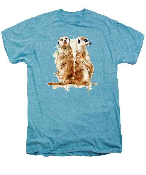 Meerkats Men's Premium T-Shirt by Marian Voicu