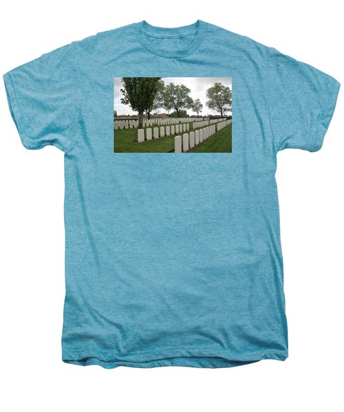 Men's Premium T-Shirt featuring the photograph Messines Ridge British Cemetery by Travel Pics