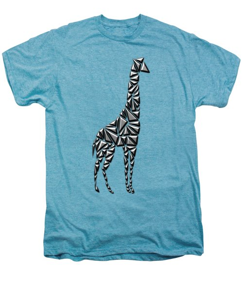 Metallic Giraffe Men's Premium T-Shirt by Chris Butler