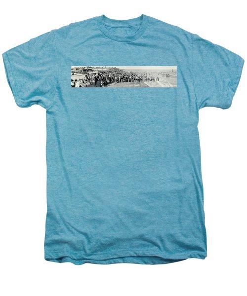 Miami Beach Sunbathers 1921 Men's Premium T-Shirt by Jon Neidert