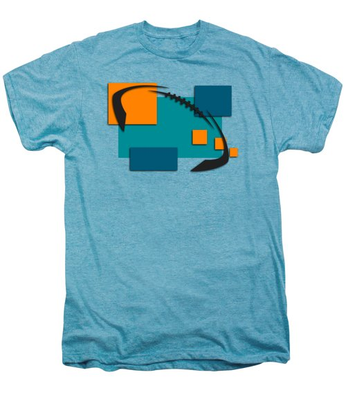 Miami Dolphins Abstract Shirt Men's Premium T-Shirt by Joe Hamilton