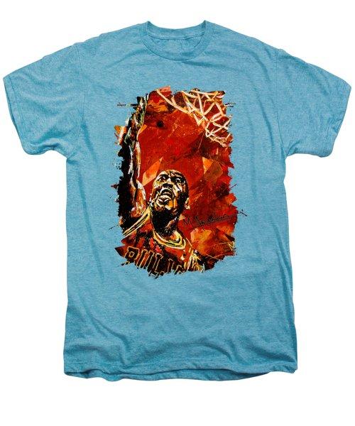 Michael Jordan Men's Premium T-Shirt by Maria Arango