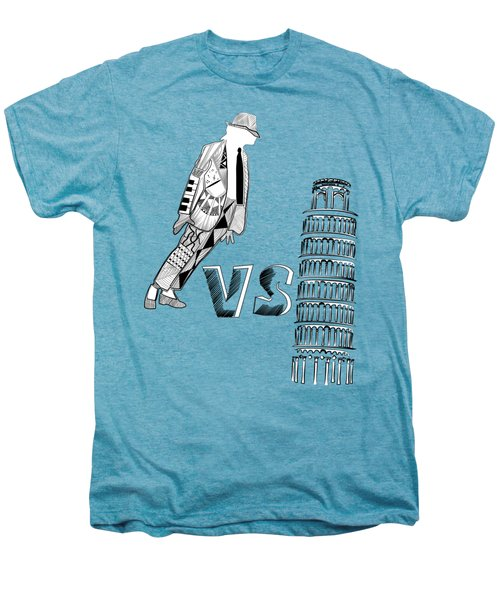 Mj Vs Pisa Men's Premium T-Shirt by Serkes Panda