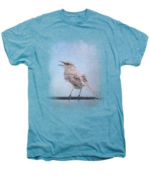 Mockingbird In The Snow Men's Premium T-Shirt by Jai Johnson