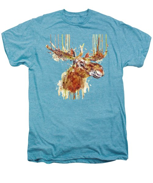 Moose Head Men's Premium T-Shirt by Marian Voicu