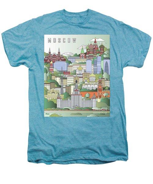Moscow City Poster Men's Premium T-Shirt by Pablo Romero
