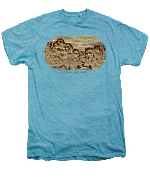 Mount Rushmore Woodburning 2 Men's Premium T-Shirt by John M Bailey