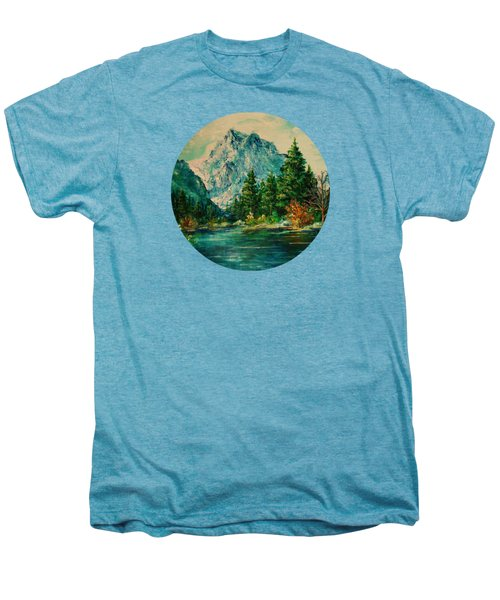 Mountain Lake Men's Premium T-Shirt by Mary Wolf