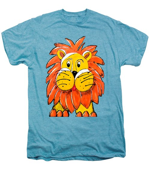 Mr. Lion Men's Premium T-Shirt by Tami Dalton