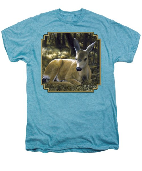 Mule Deer Fawn - A Quiet Place Men's Premium T-Shirt by Crista Forest
