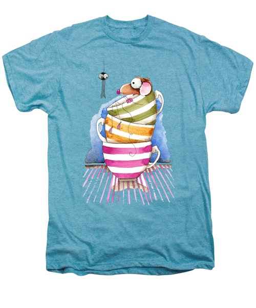 My Cup Of Tea Men's Premium T-Shirt by Lucia Stewart