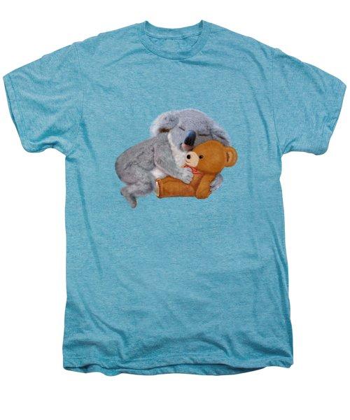 Naptime With Teddy Bear Men's Premium T-Shirt by Glenn Holbrook