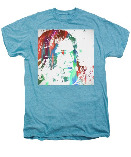 Neil Young Paint Splatter Men's Premium T-Shirt by Dan Sproul