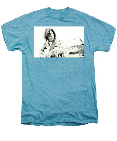 Neil Young Watercolor Men's Premium T-Shirt by John Malone