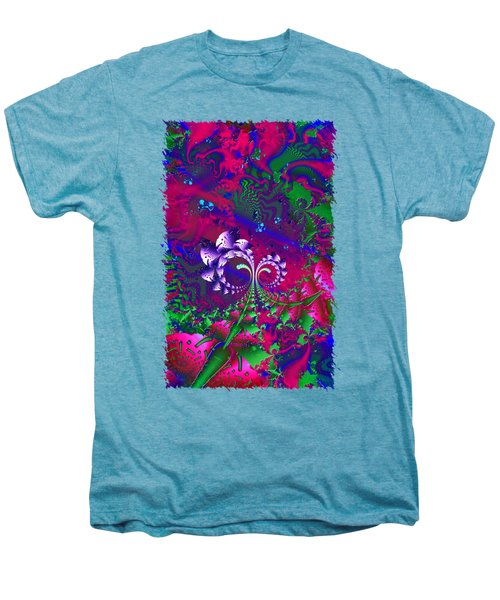 Nerd Berries Psychedelic Fractal Men's Premium T-Shirt by Sharon and Renee Lozen
