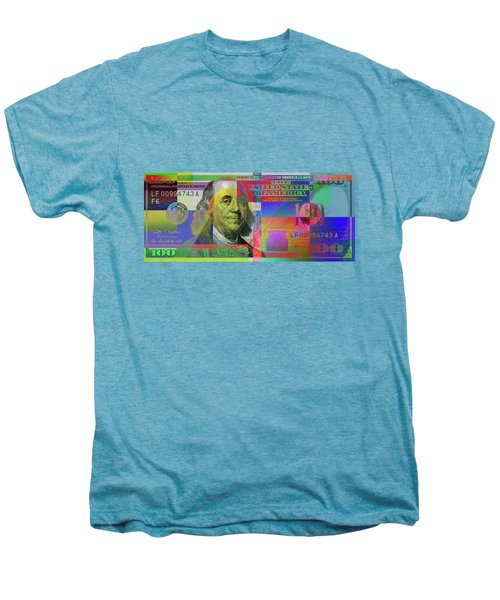 2009 Series Pop Art Colorized U. S. One Hundred Dollar Bill  V.3.0 Men's Premium T-Shirt by Serge Averbukh