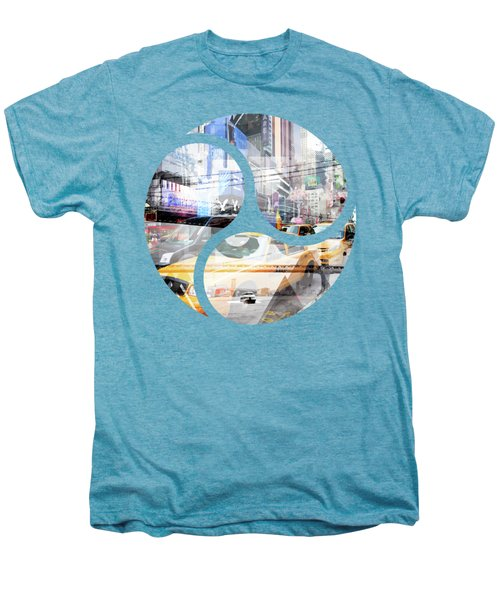 New York City Geometric Mix No. 9 Men's Premium T-Shirt by Melanie Viola