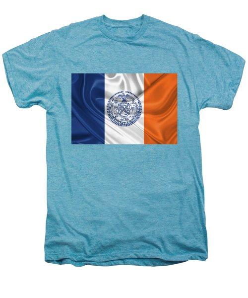 New York City - Nyc Flag Men's Premium T-Shirt by Serge Averbukh