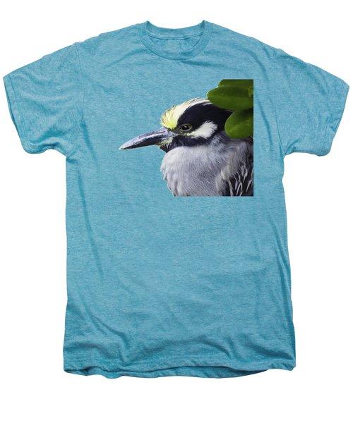 Night Heron Transparency Men's Premium T-Shirt by Richard Goldman