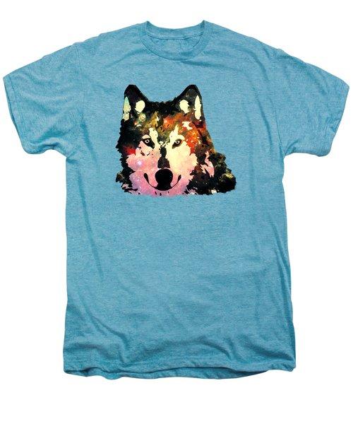 Night Wolf Men's Premium T-Shirt by Anastasiya Malakhova