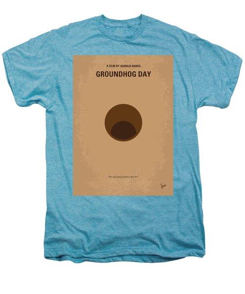 No031 My Groundhog Minimal Movie Poster Men's Premium T-Shirt by Chungkong Art