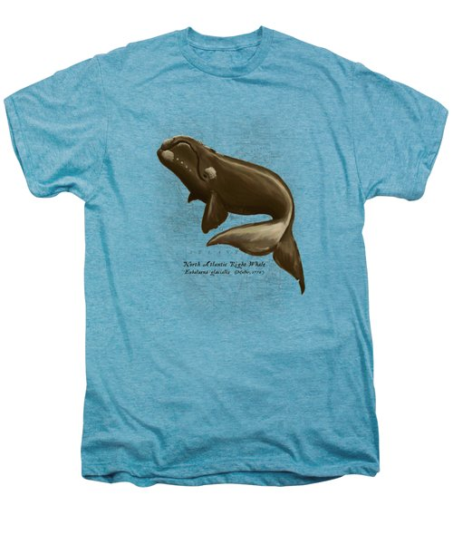 North Atlantic Right Whale Men's Premium T-Shirt by Amber Marine