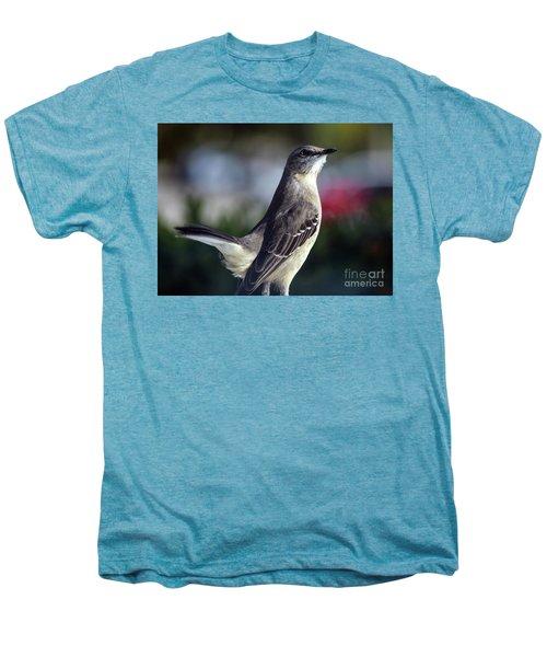 Northern Mockingbird Up Close Men's Premium T-Shirt by William Tasker