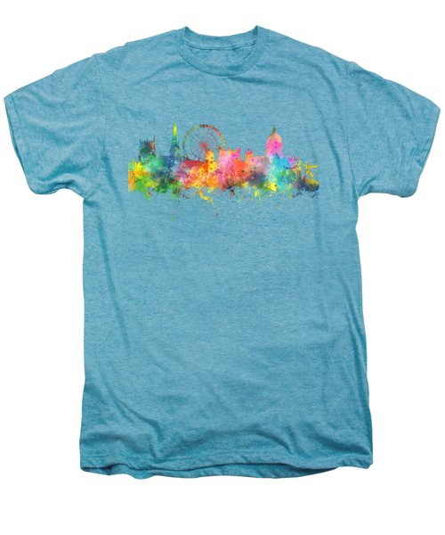Nottingham  England Skyline Men's Premium T-Shirt by Marlene Watson