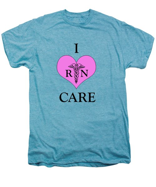 Nursing I Care -  Pink Men's Premium T-Shirt by Mark Kiver