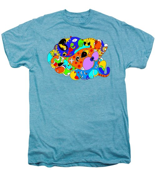 Ocean Life Men's Premium T-Shirt by Sally Bosenburg