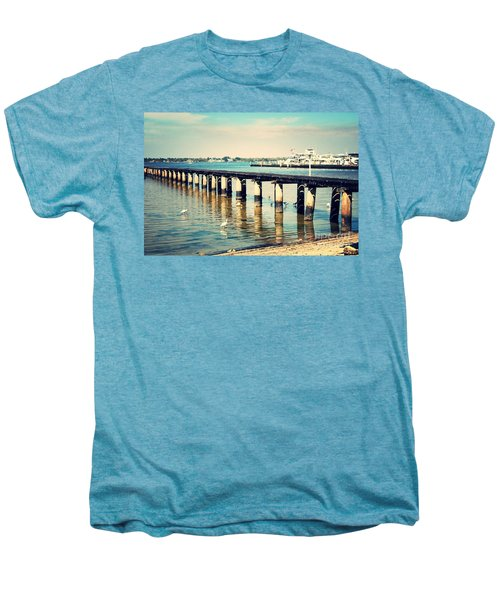 Old Fort Myers Pier With Ibises Men's Premium T-Shirt by Carol Groenen
