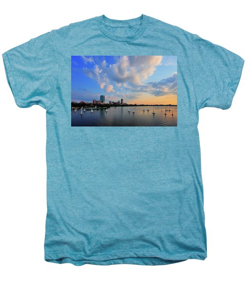 On The River Men's Premium T-Shirt by Rick Berk