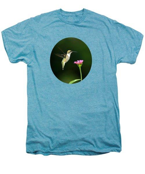 One Hummingbird Men's Premium T-Shirt by Christina Rollo