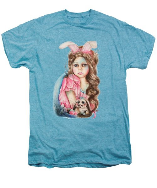 Only Friend In The World - Bunny Men's Premium T-Shirt by Sheena Pike