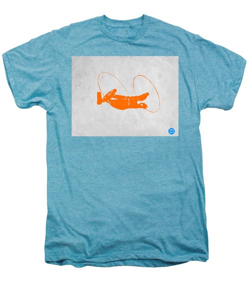 Orange Plane Men's Premium T-Shirt by Naxart Studio