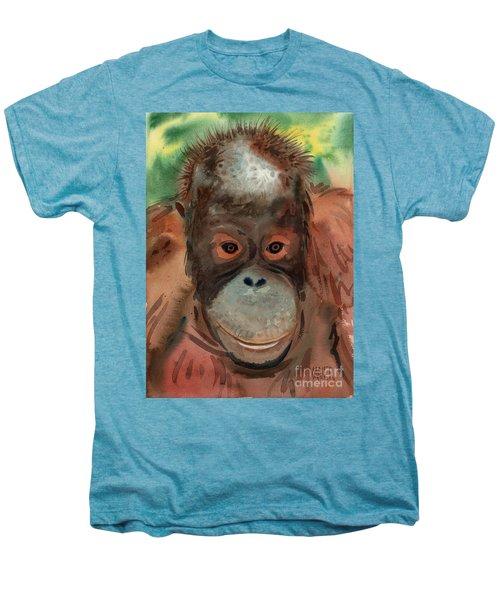 Orangutan Men's Premium T-Shirt by Donald Maier
