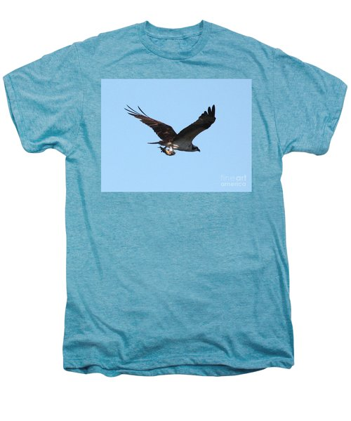 Osprey With Fish Men's Premium T-Shirt by Carol Groenen