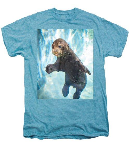 Otter Cuteness Men's Premium T-Shirt by Jamie Pham