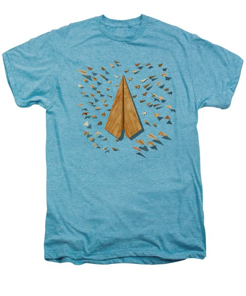 Paper Airplanes Of Wood 10 Men's Premium T-Shirt by YoPedro