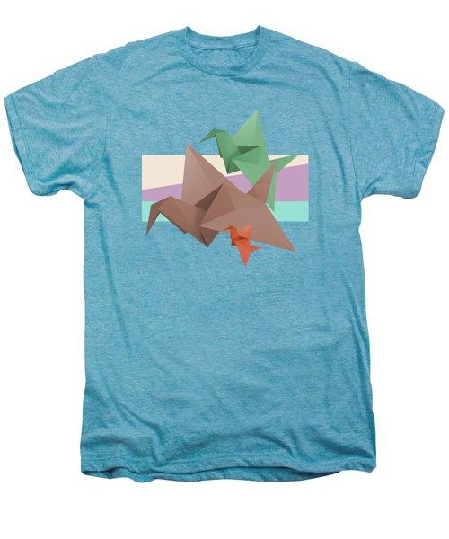 Paper Cranes Men's Premium T-Shirt by Absentis Designs