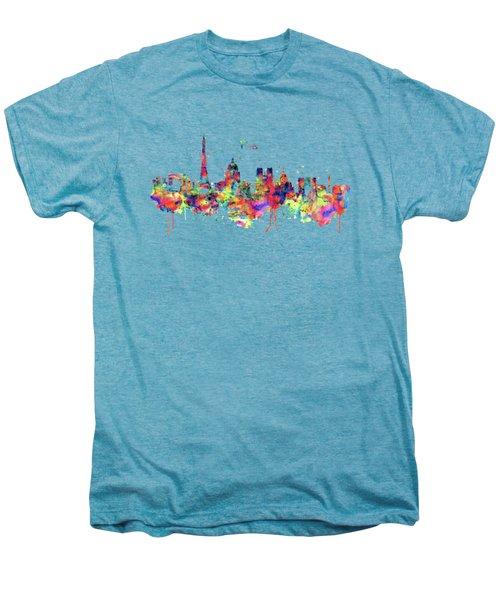 Paris Skyline 2 Men's Premium T-Shirt by Marian Voicu
