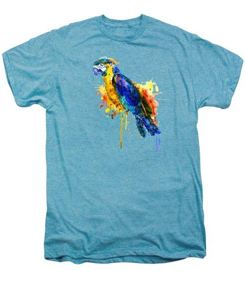 Parrot Watercolor  Men's Premium T-Shirt by Marian Voicu