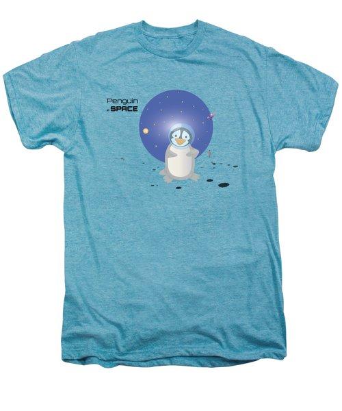 Penguin In Space Men's Premium T-Shirt by Jane E Rankin