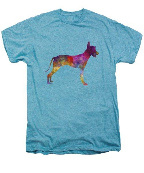 Peruvian Hairless Dog In Watercolor Men's Premium T-Shirt by Pablo Romero