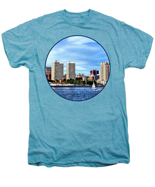 Philadelphia Pa Skyline Men's Premium T-Shirt by Susan Savad
