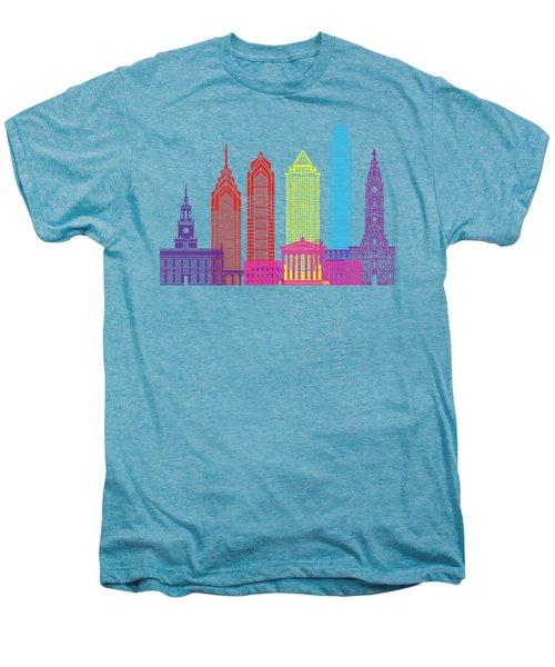 Philadelphia Skyline Pop Men's Premium T-Shirt by Pablo Romero