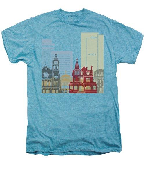 Phoenix Skyline Poster Men's Premium T-Shirt by Pablo Romero