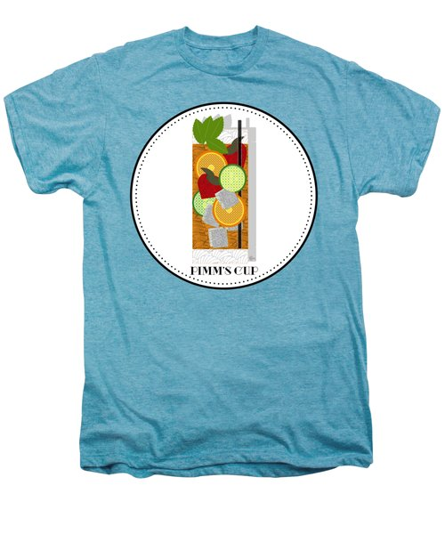 Pimm's Cup Cocktail In Art Deco  Men's Premium T-Shirt by Cecely Bloom