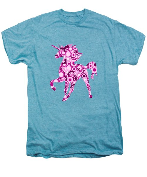 Pink Unicorn - Animal Art Men's Premium T-Shirt by Anastasiya Malakhova