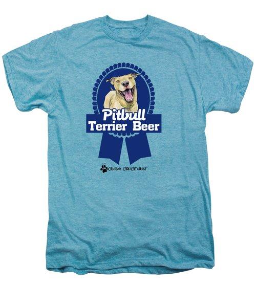 Pit Bull Terrier Beer Men's Premium T-Shirt by John LaFree